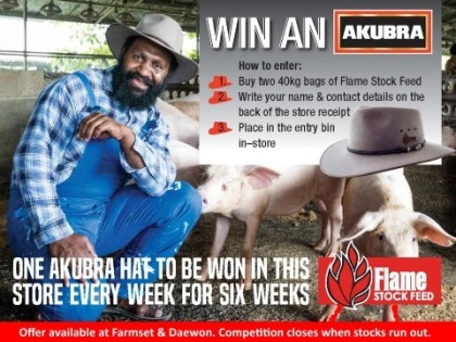 Win an Akubra Hat with Flame Stock Feed