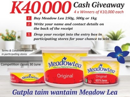 K40,000 Cash Give Away with Meadow Lea