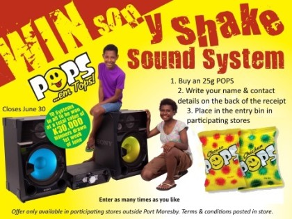 Win a Sony Shake Sound System with Pops