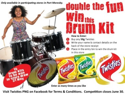 Win A Drum Kit With Twisties